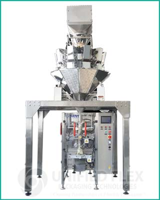 Entry level vertical form fill seal packaging machine with combination weigher