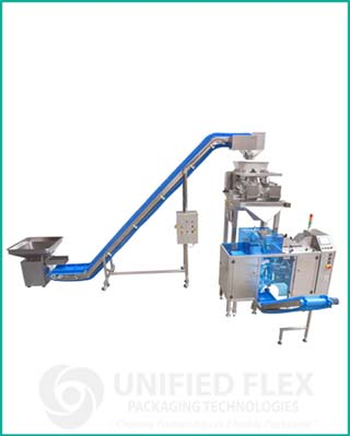 entry level preform pouch linear scale vertical form fill seal packaging machine