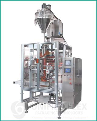 Mid Level vertical form fill seal packaging machine with volumetric auger filler