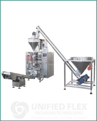 Entry level economy vertical form fill seal packaging machine with volumetric auger filler