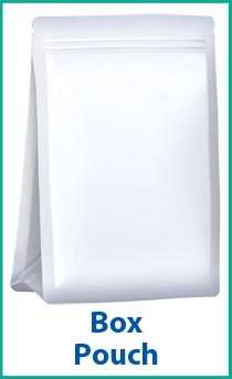 Box Pouch- a packaging option for a bagging machine.