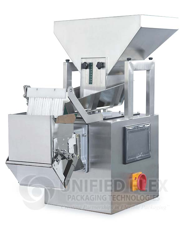 Linear Single Head Scale For A Vertical Form Fill Seal Packaging Machine