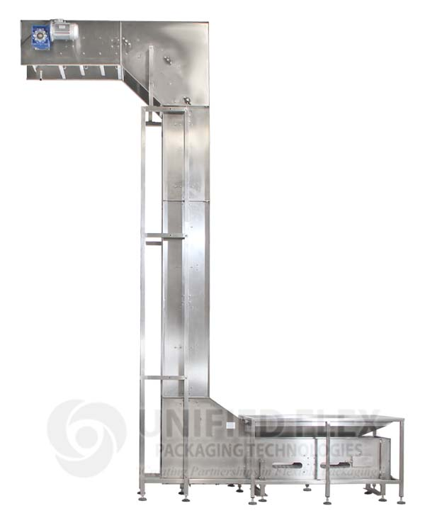 Z Conveyor For A Vertical Form Fill Seal Packaging Machine