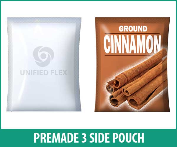 3 Side Pouch designed as a ground spice bag