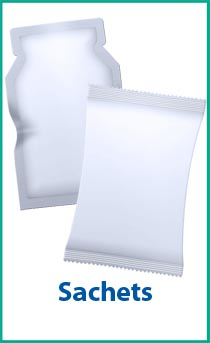 Sachet bags - a packaging option for a bagging machine.