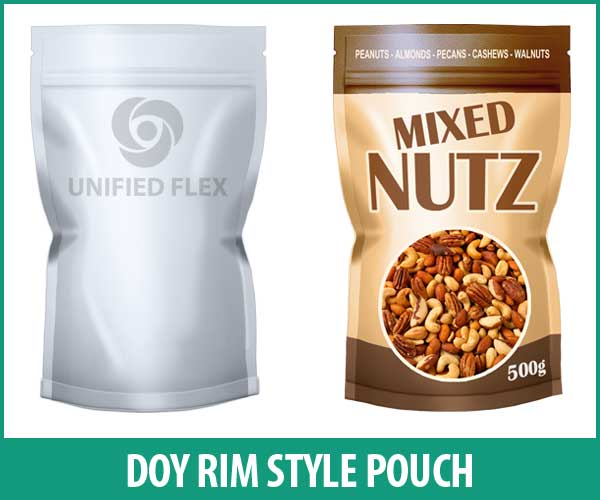 Doy Rim Style Pouch designed as a mixed nuts food bag