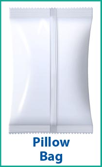 Pillow Bag - a packaging option for a bagging machine.