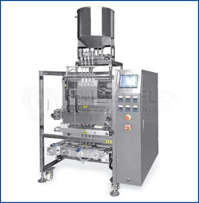 Multilane Stickpack With Piston Filler Vertical Form Fill Seal Packaging Machine