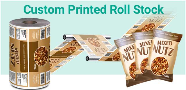 Rollstock Film And Flexible Packaging Pouch Examples Containing Snackfoods