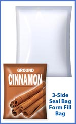 3 side seal bags for cinnamon or other spices or dry foods