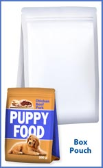 Box pouch for puppy foods