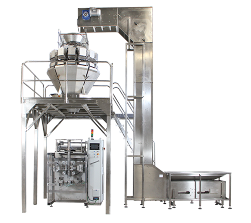 Vertical Form Fill Seal bagging machine with multihead combination scale and conveyor