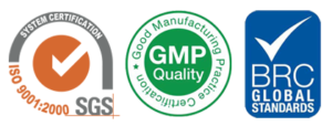 BRC, GMP and ISO certifications