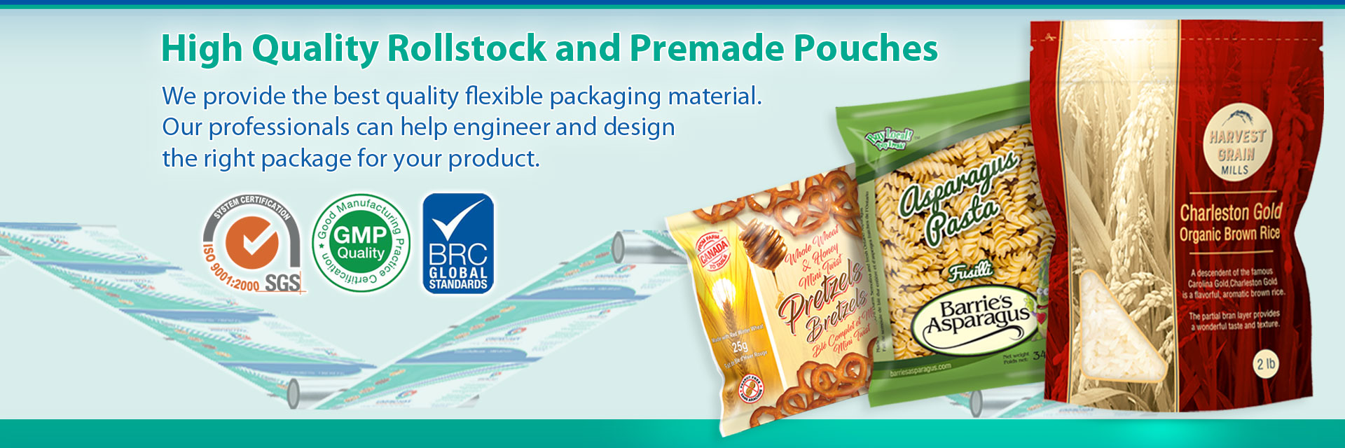 Premade Pouch And Rollstock Film Packages