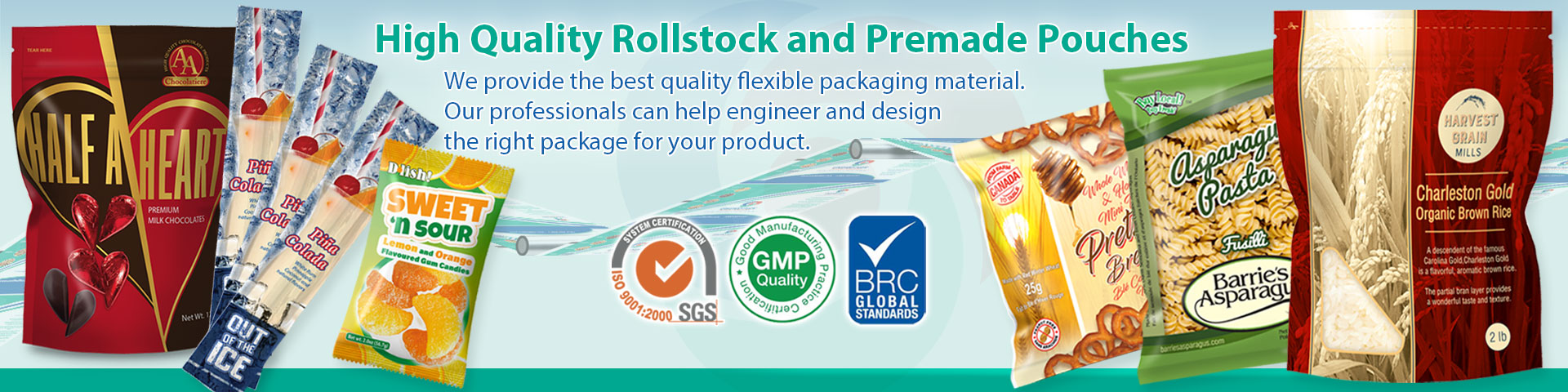 Vertical Form Fill Seal Packaging Equipment and Flexible Packaging Materials, Bagging machines, Rollstock Film, packaging film, laminated rollstock